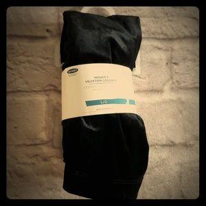 Black Velveteen Leggings